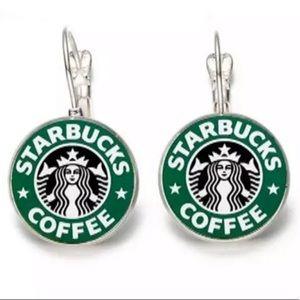 Coffee Starbucks Inspired Dangle Earrings